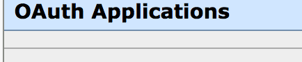 Can we have some kind of empty state here that says there are no configured applications?