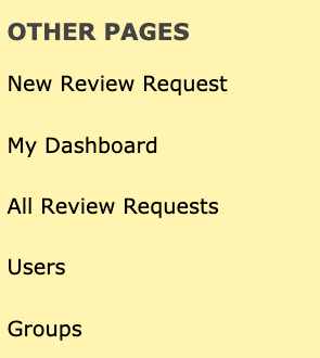 """Other Pages"" really bothers me. Perhaps here in the admin UI we can just call this ""Review Board""?"